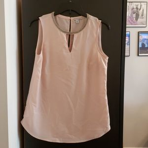HALOGEN Embellished Sleeveless Blouse